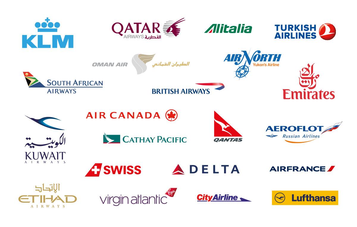لوگو شرکتهای هواپیمایی بین المللی - رایگان
