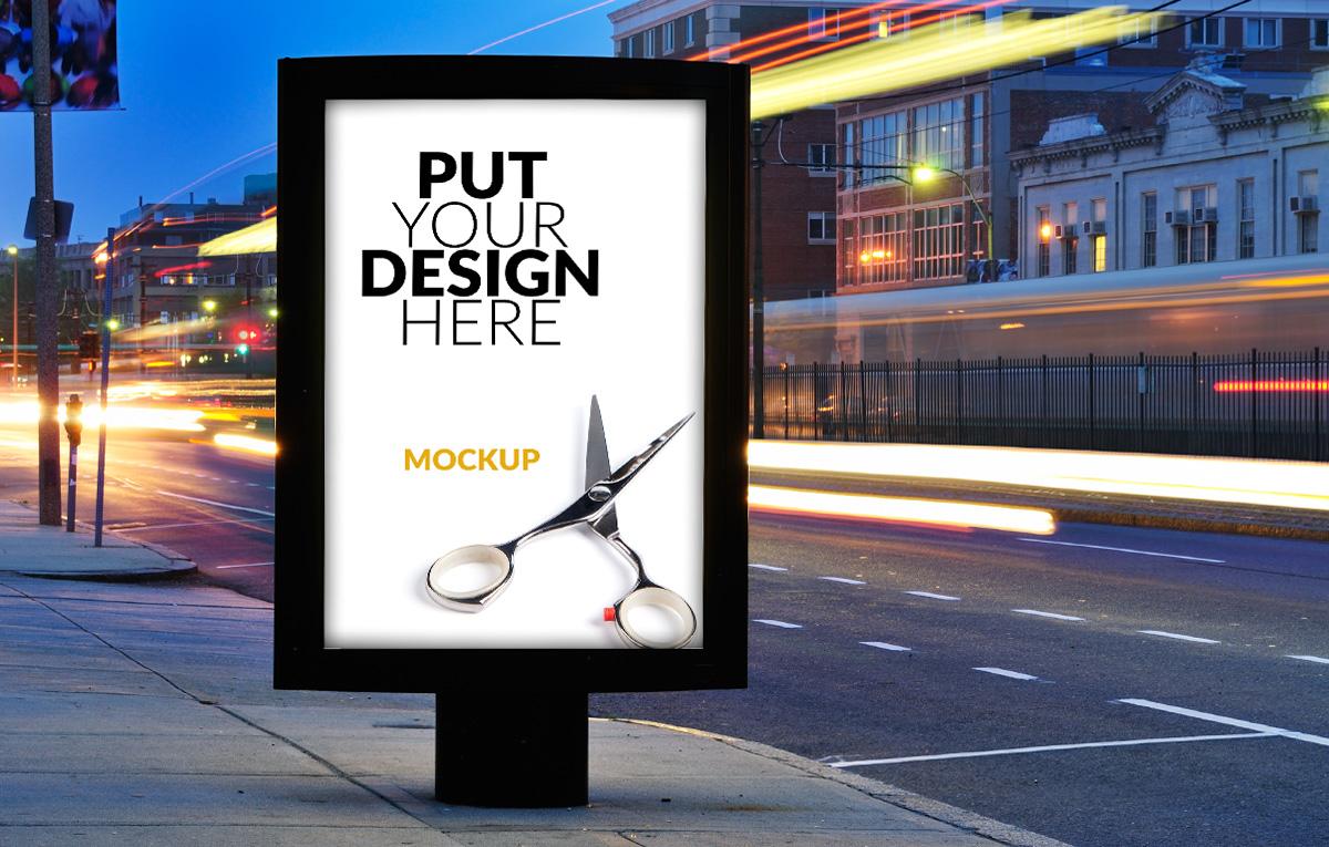 ماکاپ استند تبلیغاتی - رایگان