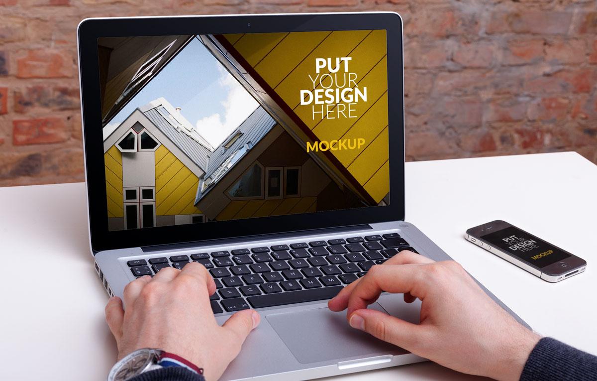 ماکاپ لپ تاپ Construction