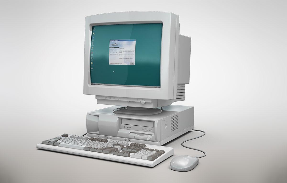 ماکاپ کامپیوتر قدیمی - رایگان